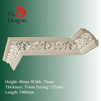 HD-100730 house decor polyurethane ceiling cornices