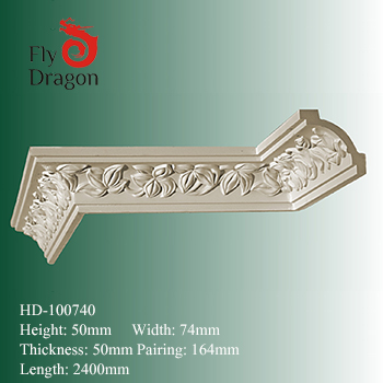 HD-1000740  polyurethane foam wall ceiling decoration cornice
